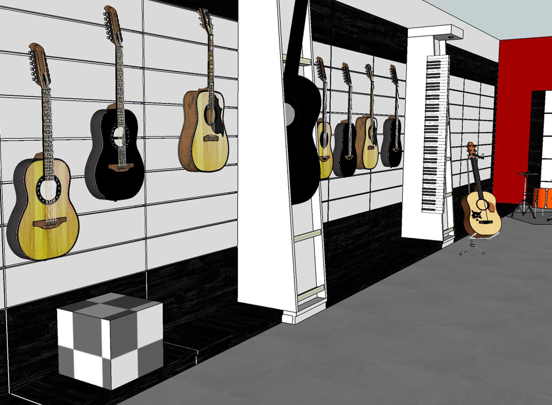 Musikgeschäft Planung vorher